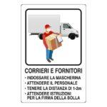 Corrieri e fornitori, indicazione per covid19